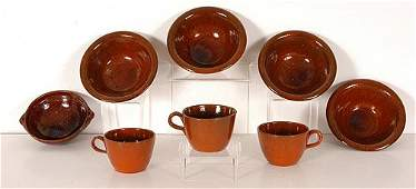89: Jugtown & Ben Owen, 8 Pottery Pieces.