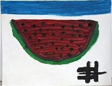 Clementine Hunter. Watermelon Slice.