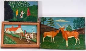 Lawrence Lebduska. 3 Small Works.