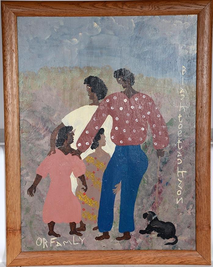 Black Joe Jackson. Large Family Portrait.