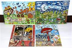 Susan Strats. 4 Paintings.