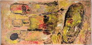 Purvis Young. Large Portrait & Figures