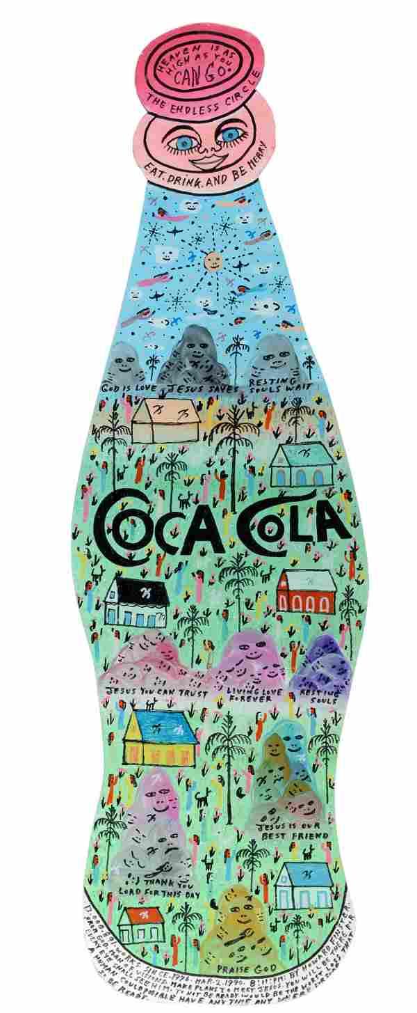 Howard Finster. Coca Cola Bottle.