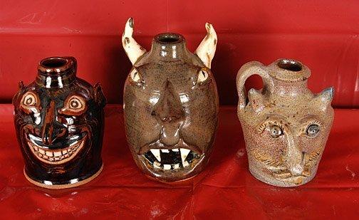 10: Blake LaBarga, Moore. 3 Devil Face Jugs.