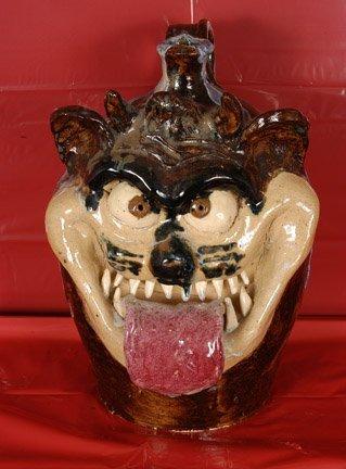 13: W.A. Flowers. Tazmanian Devil Face Jug.