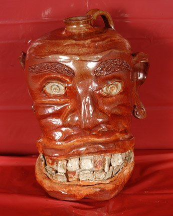 15: Al Brooks.  Large Mouth Face Jug.