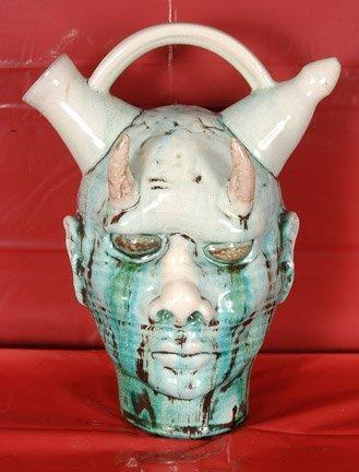 19: Peter Lenzo. Alien Devil Face Jug.