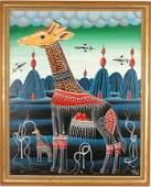 320: Erich Staub. Mother & Baby Giraffe.