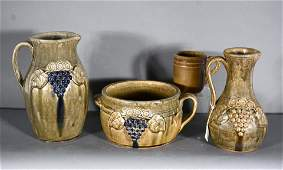 John Meaders. Four Pottery Pieces.