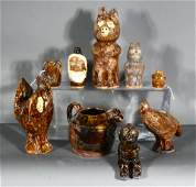 Marie Rogers. Nine Pottery Pieces.