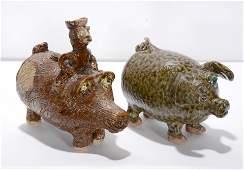 Marie Rogers & C.J. & Billie Meaders. Georgia Pigs.