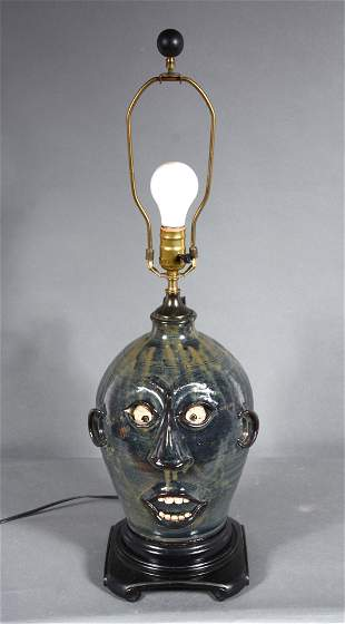 Roger Corn. Face Jug Lamp.