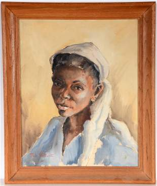 Black Woman With Jeweled Earring.