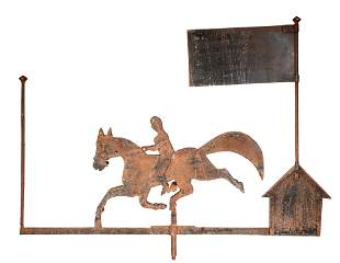 Jockey On Horse Weathervane.