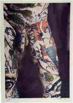 Photo of Male Nude Figure With Tattoos.