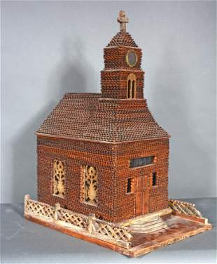 Tramp Art Church Model.