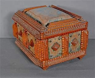 Tramp Art Sewing Box.