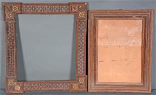 Pair of Tramp Art Frames.