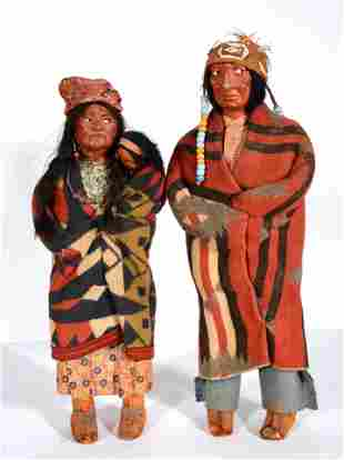 Skookum Dolls Indian Family.