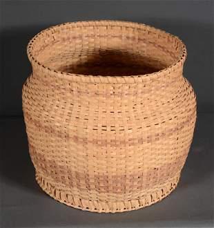 Nancy Bradley. Rare Circle Bottom Oak Basket.