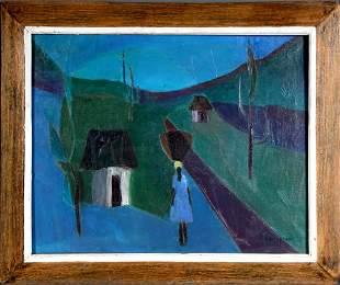Henri Calixte. Sur La Route Du Marche.
