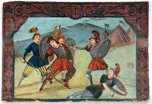 Anonymous Early Spanish Battle Scene.