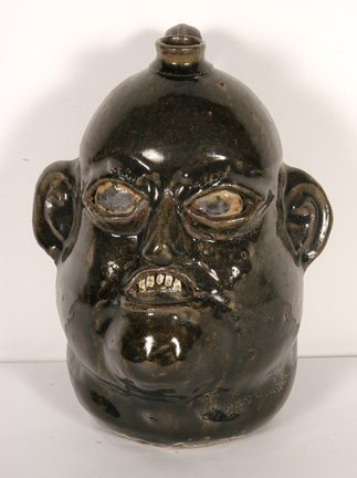 9: Matthew Hewell. Face Jug w Large Jaw.