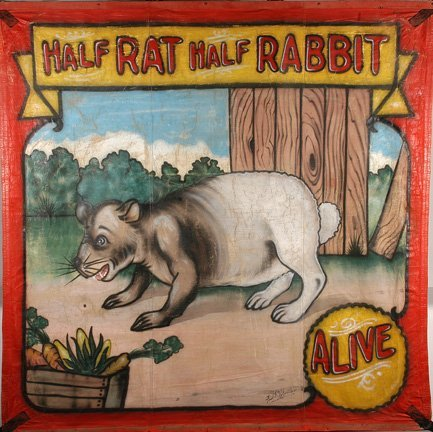 98: Fred Johnson. Half Rat, Half Rabbit Banner.