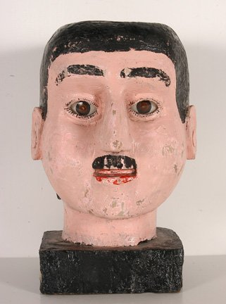 102: Carnival Head. White Man's Head.