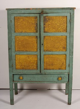 119: Punched Tin Pie Safe.