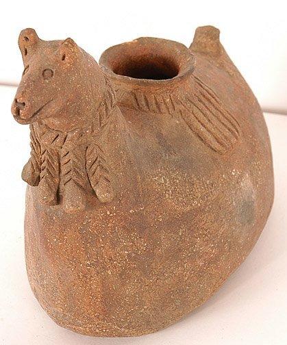 877: Peruvian Drinking Vessel.