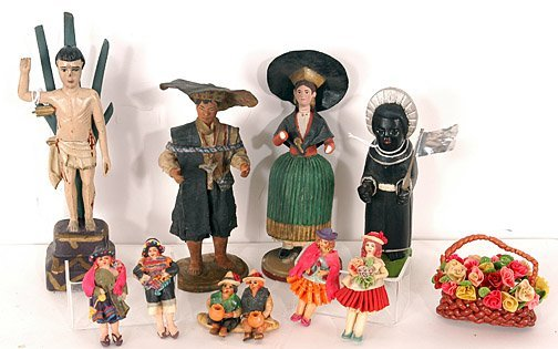 884: Figurines from South & Central America.