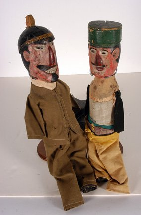 931: German Punch and Judy Dolls. - 2