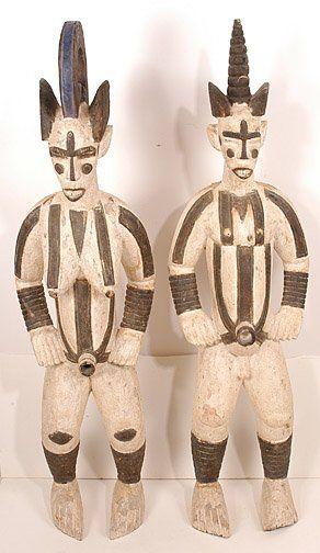 Life Size Ibo Male & Female Statues.