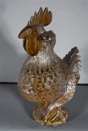 Clint Alderman. Rooster With Rattlesnake On Back.