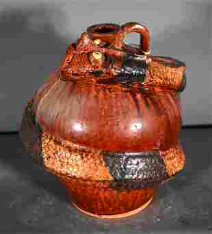 Albert Hodge. Large Rattlesnake Jug.