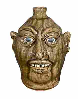 Lanier Meaders. Drop Nose Face Jug.