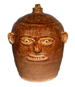 Reggie Meaders. Face Jug with Small Features.