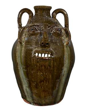 B.B. Craig. Five Gallon Face Jug.