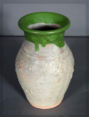 B.B. Craig. Two-Tone Green Over Bristol Glaze Vase.