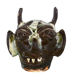 B.B. Craig. Mini Black Devil Face Jug.