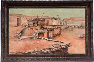 Mabel Weaver. Early Pueblo Scene.