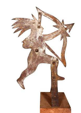 Indian With Bow and Arrow Weathervane.