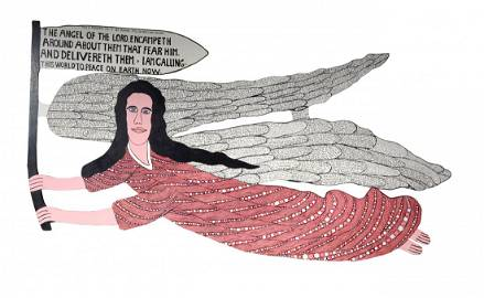 Howard Finster. The Angel Of The Lord Giant Cutout.