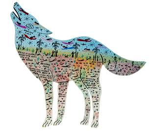 Howard Finster. Howling Wolf.