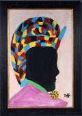 Clementine Hunter. Female with African Headdress.
