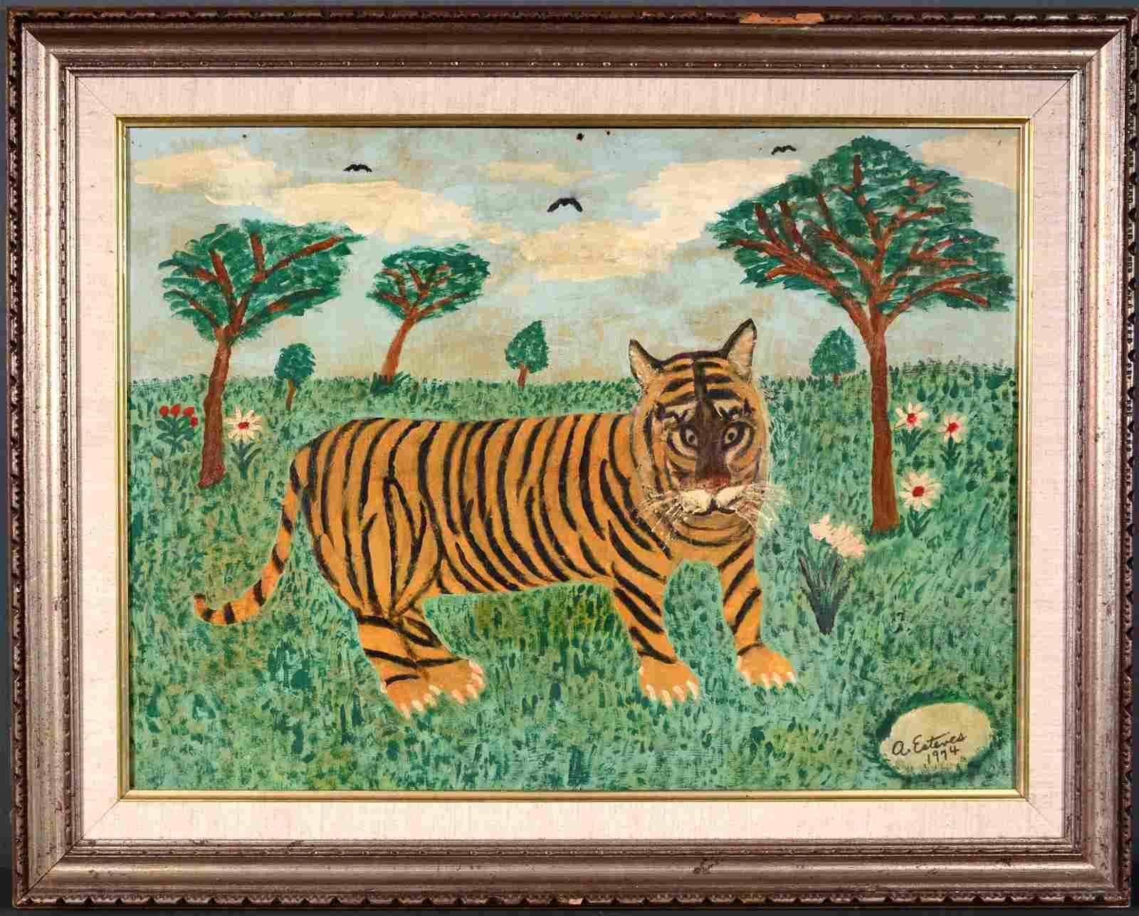 Antonio Esteves. Tiger In The Grass.
