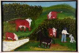 Rev. Johnnie Swearingen. Cattle Scene.