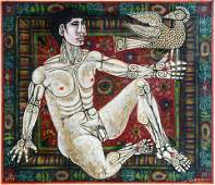 Rex Clawson. Male Nude With Hawk.