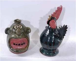 Brian Wilson Face Jug and Chicken
